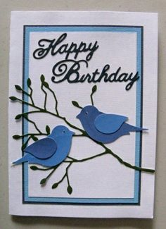 Bird Punch Card. (My TLC Handmade Cards TD )