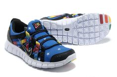 Nike Free Powerlines Mens Photo Blue Black Rainbow 525267 072