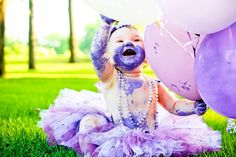 # smash the cake # purple # baby
