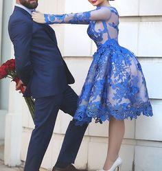 2016 luxury homecoming dresses,lace prom dresses, short elegant prom dresses, blue long sleeves prom dresses,party dresses