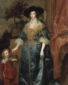 Queen Henrietta Maria with Sir Jeffrey Hudson Anthony Van Dyck 1633  Its not often you come across a painting that includes a dwarf a monkey an orange tree and a Queen; but Anthony Van Dyck managed to include them all in this masterpiece. Henrietta Maria was the youngest daughter of King Henry IV of France and Queen Maria Medici from Florence. She married King Charles 1 of England in 1625 and became the Queen of England.  Van Dyck was hired to work as a court painter for King Charles and was…