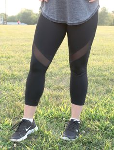 This seasons must have athletic pants with a mesh cut out in the front and back…