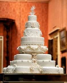 Kate and Will's wedding cake, an eight-tier design by Fiona Cairns, was comprised of 17 individual fruit cakes—12 of which were used to form a multi-tiered base.