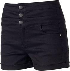Juniors' Tinseltown Color Triple Stack Shortie Shorts  , black pins, black board, black, the color black, black color palette, black theme, black color scheme, black things, black aesthetic, black fashion ( affiliate )