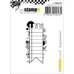 Carabelle Studio Cling Stamp - Flag Label