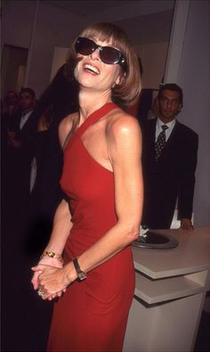 Anna Wintour at Christies, 1990's