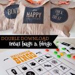 Halloween Treat Bags & Bingo Game {Free Printables}