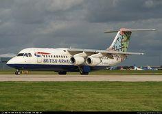 Photo of G-BXAS - British Aerospace Avro - British Airways (CitiExpress) British Airline, British Airways, British Aerospace, Cargo Airlines, Civil Aviation, World Pictures, Evening Sandals, Diesel Locomotive, Engineer