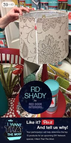 I am a huge fan of RD Shady. These beautifully made, flexible shades offer an unexpected pop of pattern and color to your home. Red Turquoise, Diy Network, Do It Yourself Projects, Make It Work, Lamp Shades, Pretty Cool, Home Decor Accessories, My Favorite Color, Glass Bottles