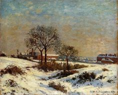 Landscape under Snow, Upper Norwood, 1871-Camille Pissarro - by style - Impressionism