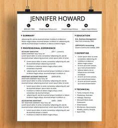 Resume Template  Cv Template  Cover Letter Letterhead  Ms Word