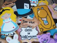 Charming Alice In Wonderland Birthday Party Sugar Cookies TheIcedSugarCookie.com Flourish Cookies