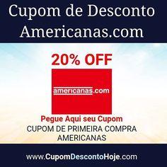 Cupom de Desconto 20% OFF Americanas.com https   www.cupomdescontohoje fd79d5c88f4