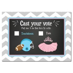 50% OFF SALE Gender Reveal Voting Cards by ThatPartyChick on Etsy