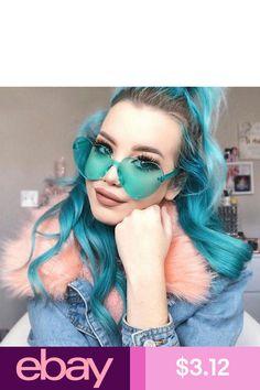 bbfc7d4b4e39 2018 Sella New Women Conjoined Rimless Heart Shape Sunglasses Fashion  Ladies Candy Color Oversized Love Eyewear Unique Sun Glass.