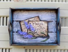 Tole Painting, Painting On Wood, Chalk Paint, Stencils, Shabby Chic, Hand Painted, Diy Crafts, Vintage, Wooden Trays