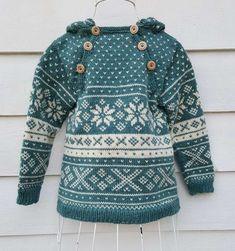 Snøhetta anorak and sweater von SiSiVeAS auf Etsy Knitting For Kids, Knitting Projects, Baby Knitting, Crochet Baby, Knit Crochet, Baby Fair, Norwegian Knitting, Fair Isle Pattern, Fair Isle Knitting