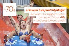 Usa i tuoi punti MyMagic! Solo a Luglio al Parco con sconti fino al -70%!  Scopri come spendere i tuoi punti: http://www.magicworld.it/?p=40849