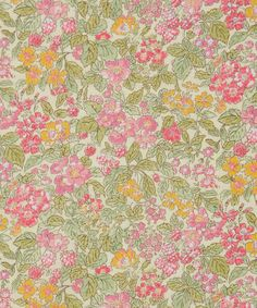 Liberty Art Fabrics Prince George A Tana Lawn Cotton.  This lovely Liberty fabric was named after our newest Royal arrival, Prince George. The design was taken from an original 1930s block design, made at Liberty's prominent Merton printworks.