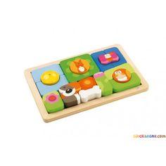 SEVI play puzzle giorno & notte - Giochi e giocattoli in legno