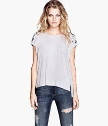 H & M Top with Studs and Rhinestones