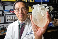 3d-heart-implants-artificial-heart-printed-to-order-05. Researchers are using 3D printing to create a stretchy material which can be peeled off the printed model and wrapped around the real heart for a perfect fit. Incorporated within this material are stretchy arrays of sensors, oxygenation detectors, strain gauges, electrodes, and thermometers. For patients, the result is a perfectly fitted and a significantly more highly advanced monitoring and treatment system.