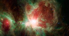 La nébuleuse d'Orion photographiée par Spitzer