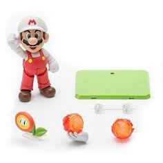 Super Mario Fire Mario SH Figuarts Action Figure