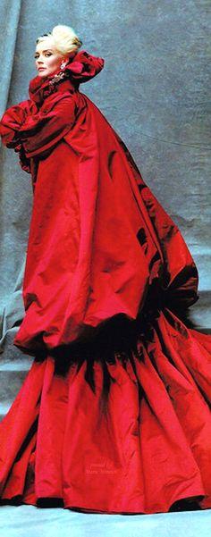 Daphne Guiness in Alexander McQueen by Michael Roberts