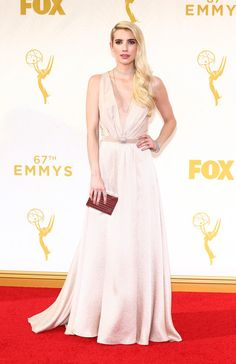 Actress Emma Roberts attends the 67th Annual Primetime Emmy Awards at Microsoft Theater on September 20, 2015 in Los Angeles, California.