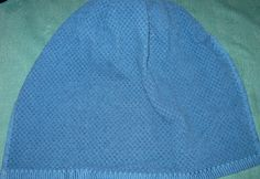 Crochet Kitchen Hanging Towel, Blue with Navy blue crochet top by mishap1165 on Etsy