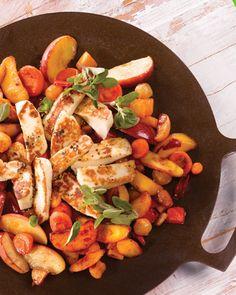 Reseptit - Lämmin juustosalaatti Muurikka-kasviksista BBQ