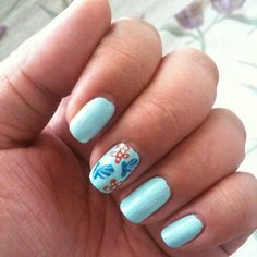 On the seashore. June 3, 2013 #ManicureMonday #manicure #nails #nailpolish #nailart