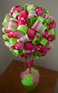 Ribbon Topiary craft-and-recycle-ideas