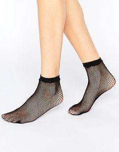Calcetines tobilleros de rejilla con costuras traseras de ASOS