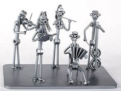 Classical orchestra - MetalDiorama Metal Art Sculpture. Classical orchestra - MetalDiorama Metal Art Sculpture This diorama presents the spirit of the classical music. My products are crafted with care. Quality is the most important thing, so i wanted to create these collectibles as detailed as i could. Fits good into any collection. UNIQUE HANDMADE METAL SCULPTURES MADE FROM NUTS AND BOLTS by cutting, bending and welding steel, utilizing metal and heat to create free-standing sculptures....