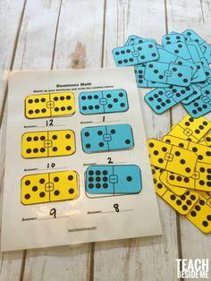 Printable Math Dominoes for homeschool math
