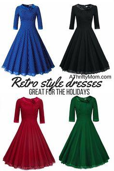 Retro style dresses, retro,dresses, Holiday dress, modest style, modest dress, fashion