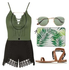 tropicalia by melanie-pacheco on Polyvore featuring moda, Topshop, Álvaro, Ray-Ban and Casetify