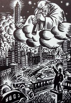 Frans Masereel 1943 Woodcut Graphic Expressionism Satire Art Frans Masereel