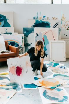 """Athen B. Gallery opens their fall season with the solo exhibition """"Conversations and Color"""" by Heather Day, featuring paintings that co. Robert Rauschenberg, Joan Mitchell, Abstract Expressionism, Abstract Art, Art Watercolor, Artist Aesthetic, Marca Personal, Collage, Photography Branding"""