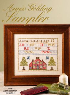 Annie Golding Sampler from the Jul/Aug 2015 issue of Just CrossStitch Magazine. Order a digital copy here: https://www.anniescatalog.com/detail.html?prod_id=125655