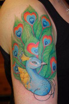 Beautifully detailed peacock #tattoo #breastcancer #mastectomy #personalink