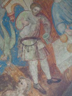 Der Mundschenk im Kreuzgang des Doms von Brixen, Anfang 15. Jahrhundert.