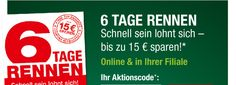 6 Tage Rennen Schnell sein lohnt sich – bis zu 15 € sparen!* 14.10. - 20.10.2015
