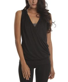 Look what I found on #zulily! Black Sleeveless Hoodie by Colosseum #zulilyfinds