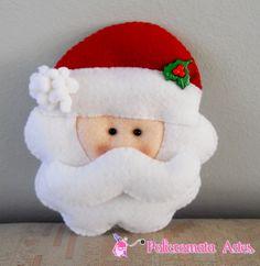 Papai Noel de feltro / Felt  Santa Claus