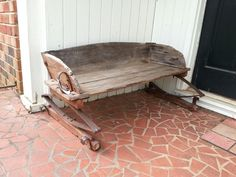 Antique stage coach buggy bench