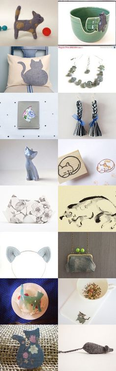 ...grey cat lifestyle... by Tomomi Barrett on Etsy--Pinned with TreasuryPin.com