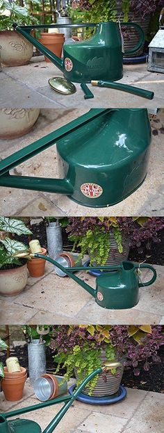 Watering Cans 20547: Bosmere V100 Haws Deluxe Plastic Watering Can, 1.3-Gallon 5-Liter, Green, No Tax -> BUY IT NOW ONLY: $63.25 on eBay!